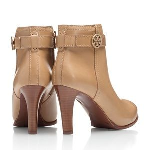Tory Burch Bristol ankle booties in walnut